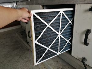 Air filter replacement for an HVAC system in St. Charles, Illinois
