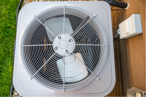 Air conditioning system at a house in Crystal Lake, Illinois